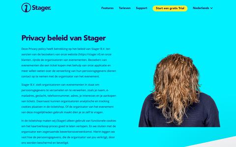 Screenshot of Privacy Page stager.nl - Stager says… - captured Nov. 29, 2017