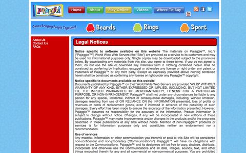 Screenshot of Terms Page pajaggle.com - Pajaggle - captured Dec. 6, 2015