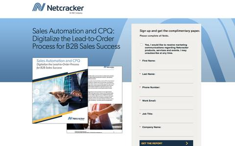 Screenshot of Landing Page netcracker.com - Sales Automation and CPQ - captured Oct. 5, 2019