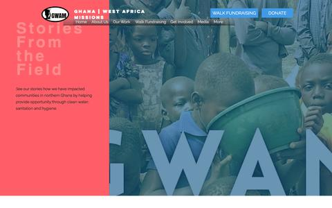 Screenshot of Blog gwam.org - GWAM | Ghana West Africa Missions | Well Drilling | See Our Stories - captured Nov. 6, 2016