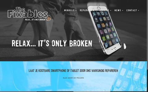 Screenshot of Home Page fixables.nl - The Fixables smartphone reparatieserviceThe Fixables - captured Feb. 16, 2016