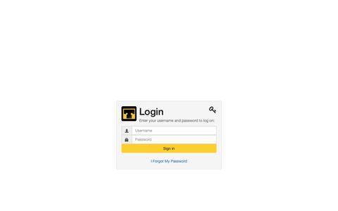 Screenshot of Login Page thomassign.com - Logon - captured Oct. 21, 2018