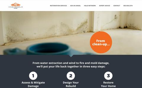Screenshot of Home Page homeangelsfl.com - Home Angels by NeoForm | Your Restoration Wingmen - captured Oct. 3, 2014
