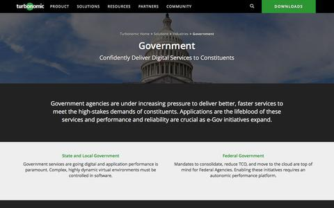 Government Data Center Solutions From Turbonomic (formerly VMTurbo)