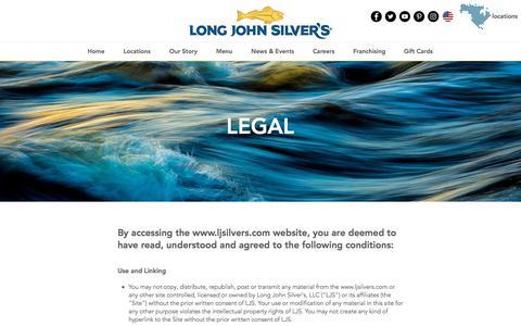 Screenshot of Terms Page ljsilvers.com - ljsilvers | Legal - captured Jan. 25, 2018