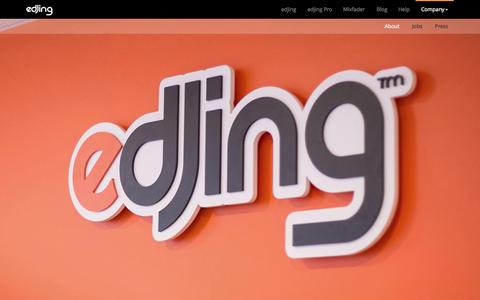 Screenshot of About Page edjing.com - DJiT | Learn more about the editor of edjing & edjing Pro - captured Nov. 18, 2015