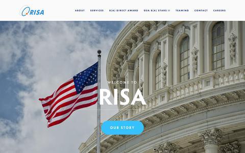 Screenshot of Home Page risadirect.com - RISA - captured Sept. 24, 2018