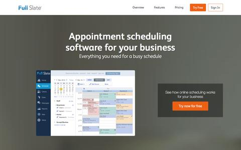 Screenshot of Contact Page fullslate.com - Online Appointment Scheduling by Full Slate - captured Jan. 7, 2016