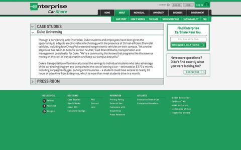 Screenshot of Case Studies Page enterprisecarshare.com - Enterprise CarShare - Car Sharing Case Studies - captured Sept. 19, 2014