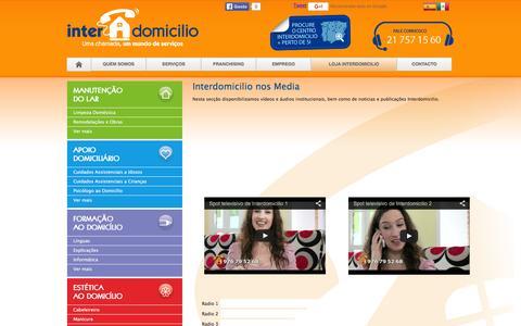 Screenshot of Press Page interdomicilio.pt - Interdomicilio nos meios de comunicação: rádio e TV e imprensa - captured Feb. 11, 2016