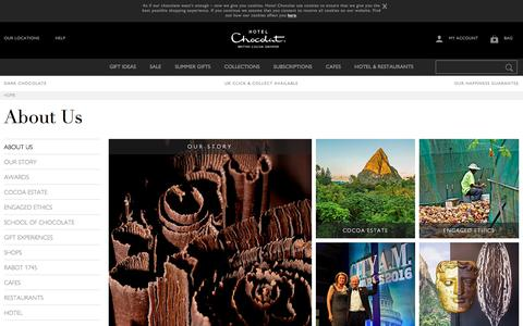 Screenshot of About Page hotelchocolat.com - About Us - Find Out About Hotel Chocolat - captured July 1, 2018