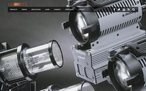 Screenshot of Home Page luminyscorp.com - Luminys Systems Corp. | Home of Lightning Strikes and Softsun - captured Feb. 2, 2016