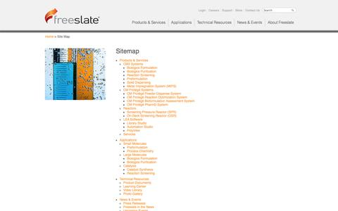 Screenshot of Site Map Page freeslate.com - Freeslate | Sitemap - captured Oct. 6, 2014