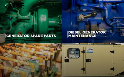 Screenshot of Services Page tsfeng.com.au - Generator Services | TSF Power - captured Dec. 15, 2018