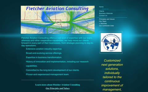 Screenshot of About Page fletcher-aviation-consulting.com - Fletcher Aviation Consulting - + About Us - captured June 6, 2017
