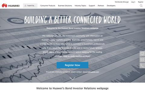 Bond Investor Relations