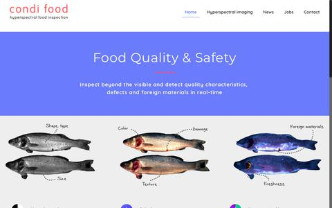 Screenshot of Home Page condifood.com - Food Quality & Safety - captured July 20, 2018