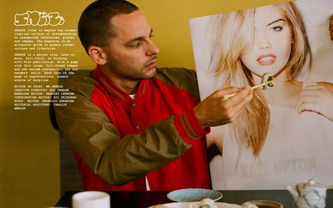 Screenshot of About Page sneezemag.com - ABOUT — SNEEZE MAGAZINE - captured Oct. 3, 2014