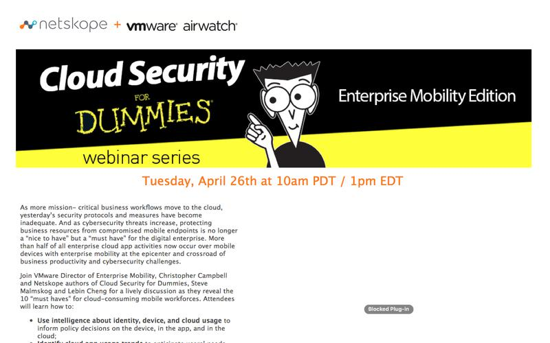 Cloud Security for Dummies with Airwatch - Mobile Enterprise Edition