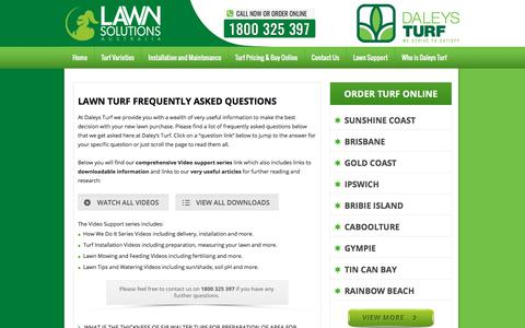 Screenshot of FAQ Page daleysturf.com.au - Lawn Turf Frequently Asked Questions | Daleys Turf - captured Oct. 30, 2017