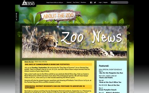 Screenshot of About Page kansascityzoo.org - What's New at the Zoo | Kansas City Zoo - captured Sept. 19, 2014