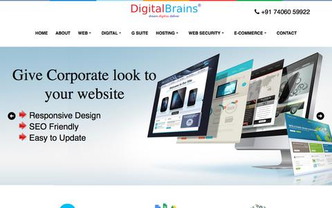 Screenshot of Home Page Privacy Page Site Map Page Terms Page digitalbrains.in - DigitalBrains | Digital Brains | Best Web Design and SEO Company in Bangalore | Website Designer Bangalore | India - captured Sept. 22, 2018