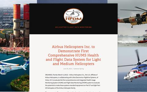 Screenshot of Press Page hfdm.org - News — HFDM - captured Jan. 29, 2016