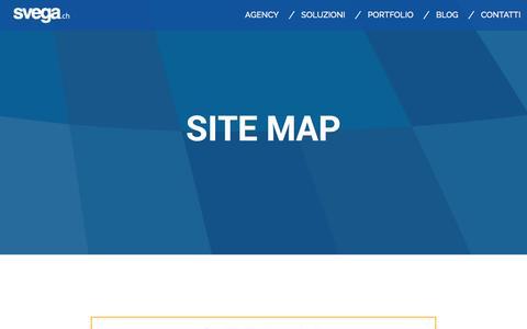 Screenshot of Site Map Page svega.ch - SITEMAP - captured Feb. 28, 2016