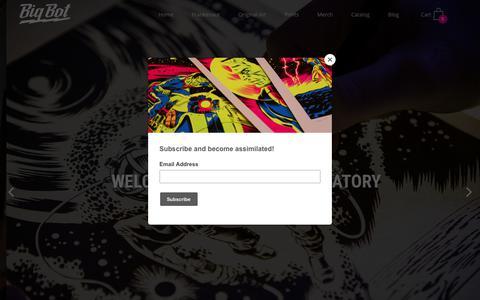 Screenshot of Home Page big-bot.com - Big Bot Art Lab – bigbot - captured Oct. 5, 2018