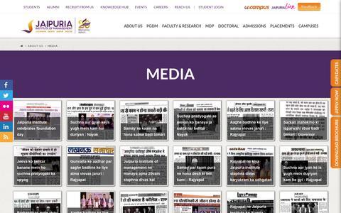 Screenshot of Press Page jaipuria.ac.in - Media   Jaipuria Insitute of management - captured Jan. 14, 2016