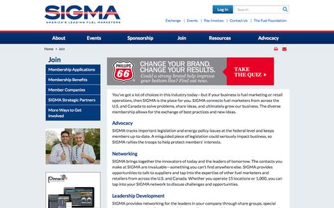 Screenshot of Signup Page sigma.org - Join - captured Nov. 4, 2014