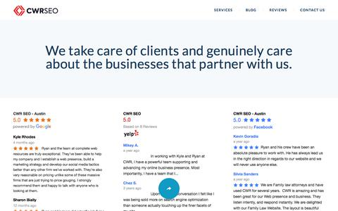 Screenshot of Testimonials Page completewebresources.com - Testimonials and Reviews | Complete Web Resources - captured July 20, 2018