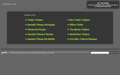 Screenshot of Home Page alltrailers.net - alltrailers.net-This website is for sale!-movie trailer trailees movie movies movie trailers trailer Resources and Information. - captured April 27, 2017