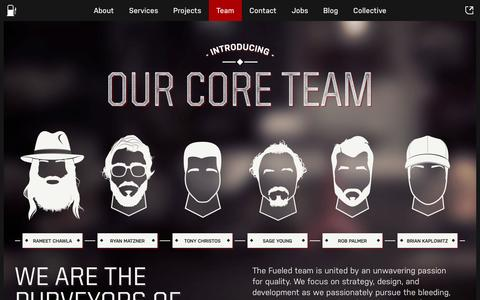 Screenshot of Team Page fueled.com - Core Team | Mobile App Design & Development Company in NYC - Fueled - captured Oct. 27, 2014