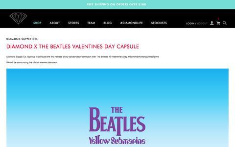 Screenshot of Blog Press Page diamondsupplyco.com - Diamond Supply Co. - captured Feb. 2, 2016