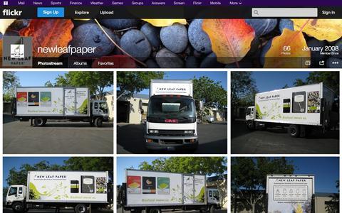 Screenshot of Flickr Page flickr.com - Flickr: newleafpaper's Photostream - captured Oct. 22, 2014
