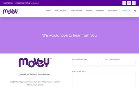Screenshot of Contact Page movey.co.uk - Contact Us - captured July 6, 2018