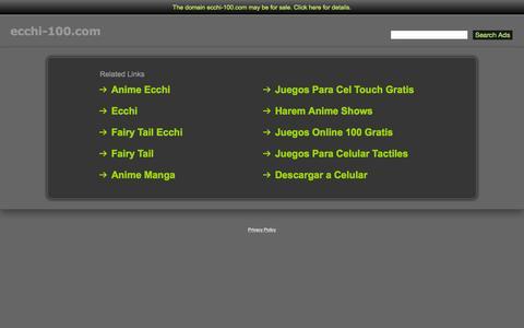 Screenshot of Home Page ecchi-100.com - Ecchi-100.com - captured Sept. 17, 2015
