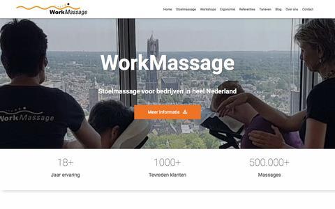 Screenshot of Home Page workmassage.nl - WorkMassage verzorgt stoelmassages voor bedrijven. - captured Oct. 22, 2017