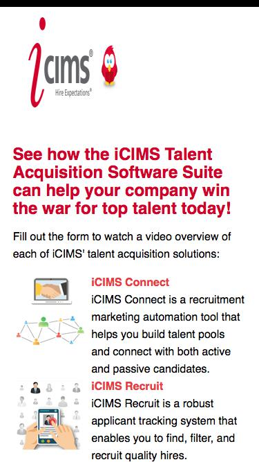 iCIMS Software Suite Demo