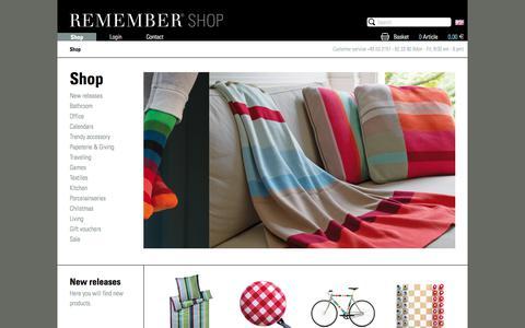 Screenshot of Home Page remember.de - REMEMBER® - captured Oct. 8, 2017