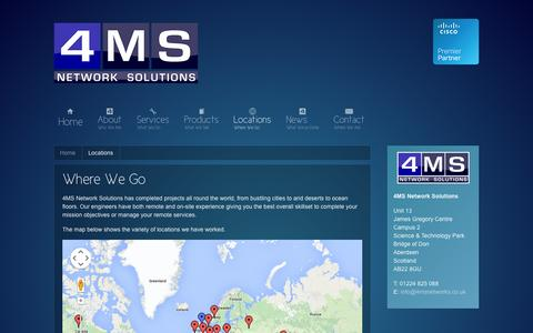 Screenshot of Locations Page 4msnetworks.co.uk - Locations || Where We Go - captured Oct. 7, 2014