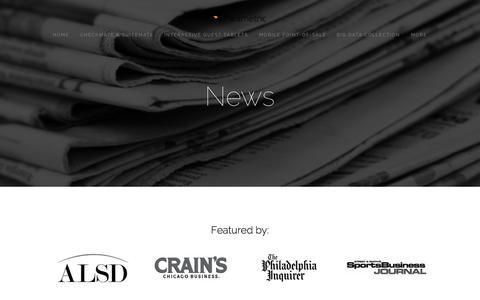 Screenshot of Press Page parametric.io - News — Parametric - captured June 16, 2015