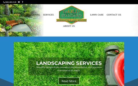 Screenshot of Home Page goldstandardlandscaping.com - Home | Gold Standard Landscaping and Lawn Services - captured Sept. 26, 2018
