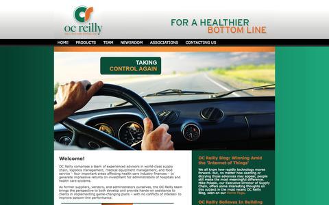 Screenshot of Home Page ocreilly.com - Healthcare Consulting | OC Reilly - captured Oct. 7, 2014