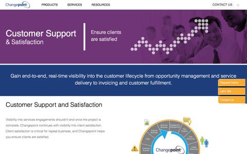 Screenshot of Support Page changepoint.com - Create customers for life with Changepoint | Changepoint - captured Dec. 27, 2016