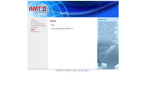 Screenshot of Press Page amt-nyc.com - News | AMT II Corporation - captured Oct. 7, 2017