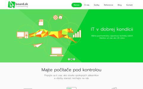 Screenshot of Home Page board.sk - board.sk – Počítače pod kontrolou - captured Oct. 7, 2018