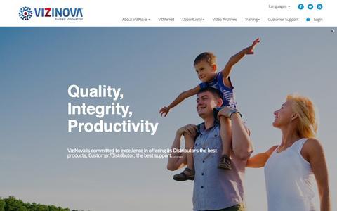 Screenshot of Home Page vizinova.com - VIZINOVA - captured Jan. 31, 2016