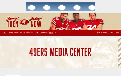 Screenshot of Press Page 49ers.com - 49ers.com | The Official Site of the San Francisco 49ers - captured April 8, 2019